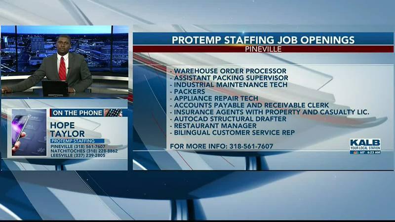 Protemp Staffing talks job openings