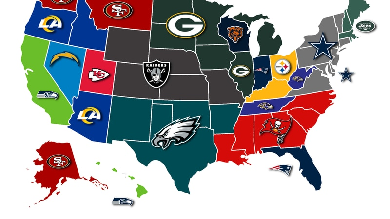 Most hated teams by state.