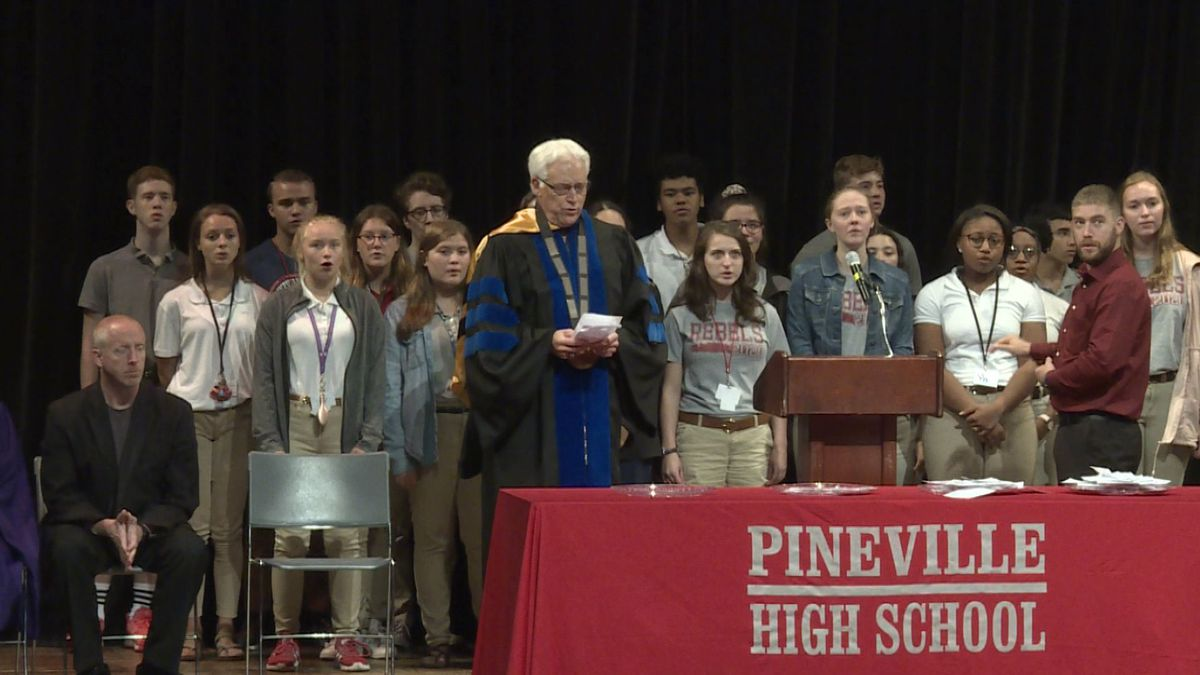 Pineville High School's Commitment to Commencement ceremony of the Class of 2023. | Photo Source: KALB