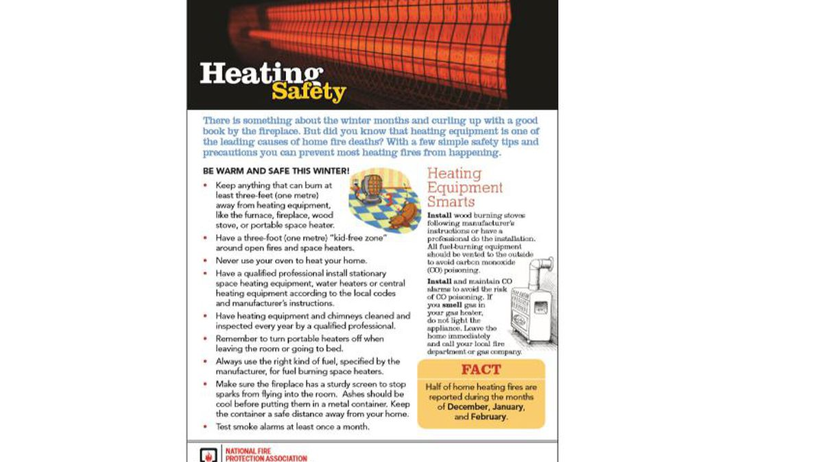 Home heating safety tips from NFPA.