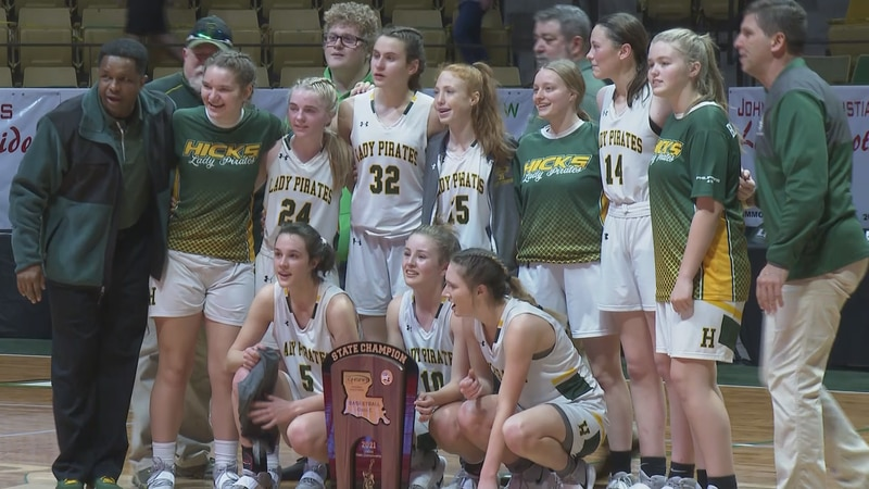 The Hicks Lady Pirates basketball team won the Class C State Championship after beating Reeves,...