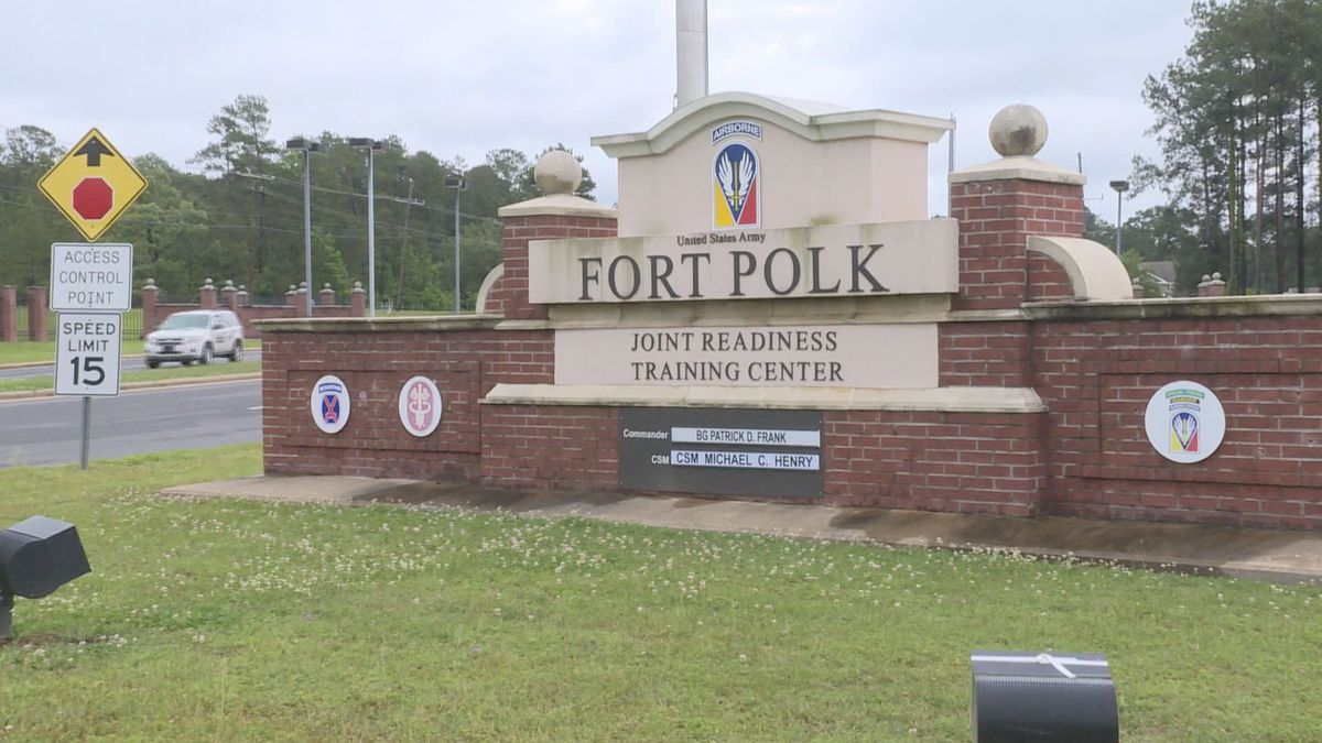 Fort Polk Gate on Entrance Road