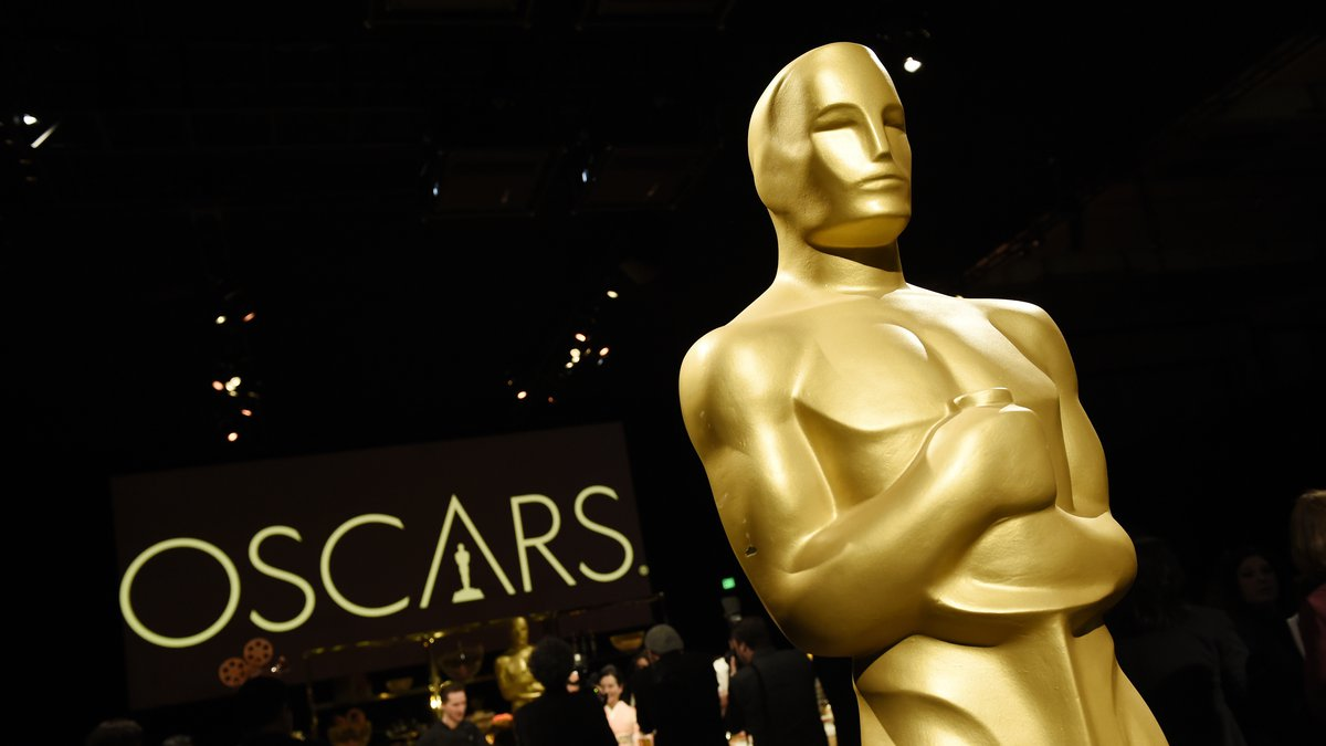 An Oscar statue is pictured at the press preview for the 91st Academy Awards Governors Ball,...