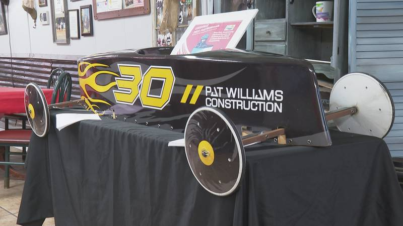 A Soapbox Derby Car at the Ranch House Cafe in Leesville, La. on October 22, 2021.