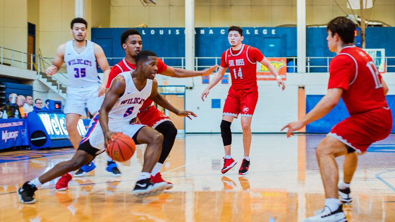 The Louisiana College Wildcats men's basketball team has canceled its' game with the Ozarks...