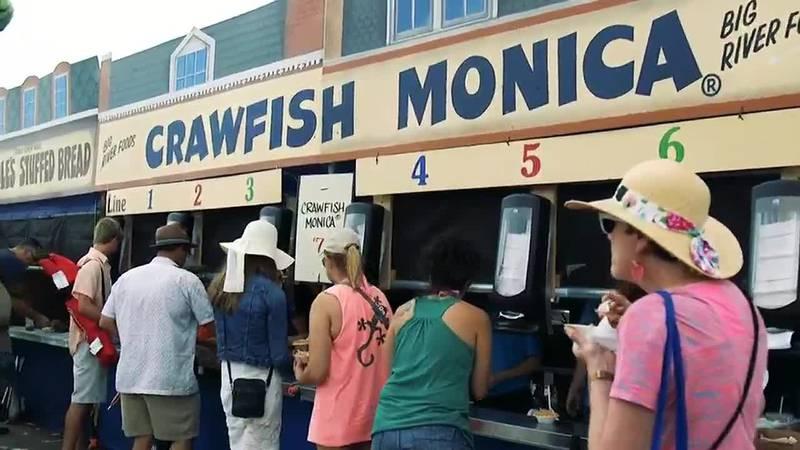 Crawfish Monica at Jazz Fest