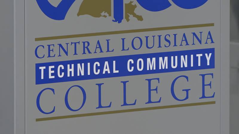 A sign for Central Louisiana Technical College in Alexandria, La. on October 12, 2021.