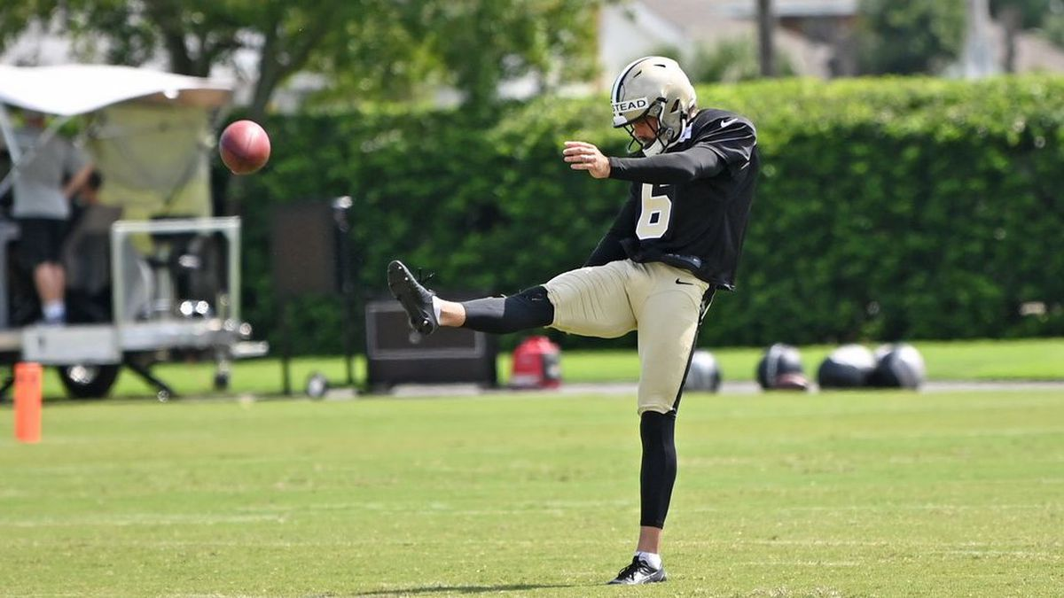 New Orleans Saints punter Thomas Morstead was released Thursday.