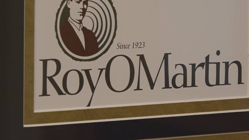 A sign for RoyOMartin in Alexandria, La. on October 20, 2021.