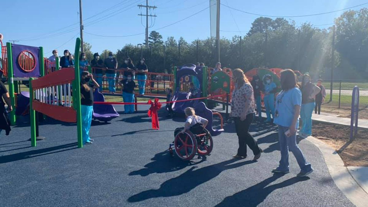 Playground gives kids with special-needs access to play and interaction with peers.