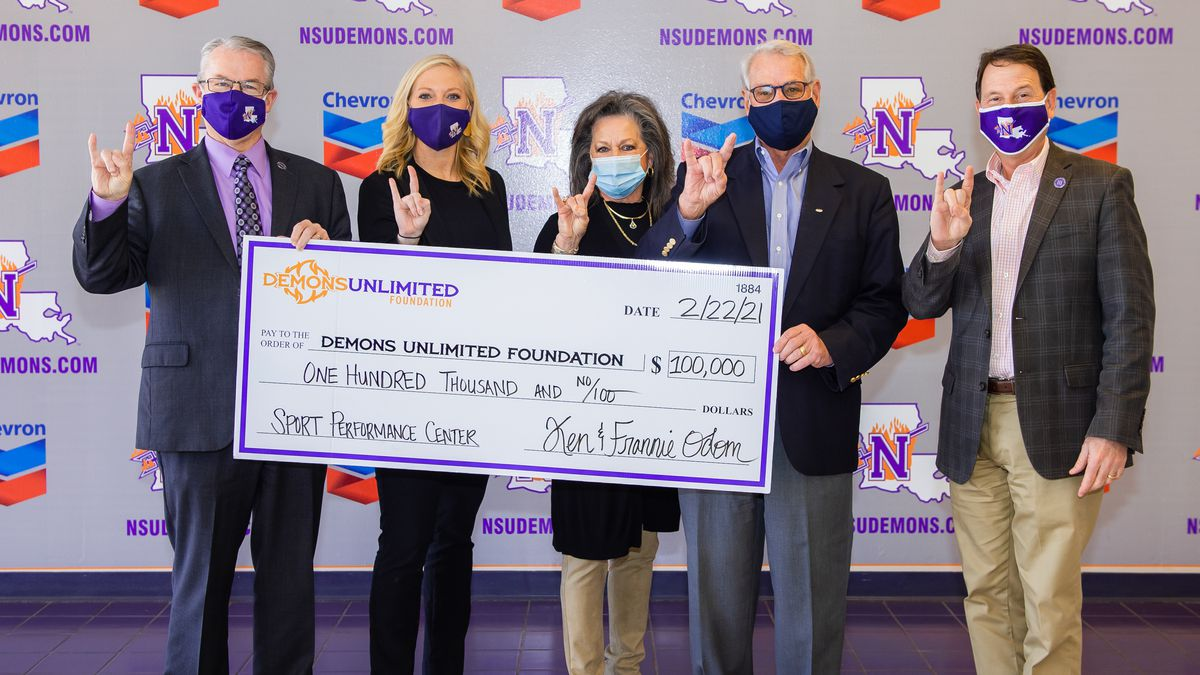 NSU receives a $100,000 donation Monday toward the Sports Performance Center. Pictures from...