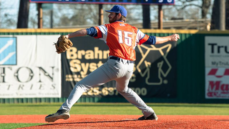 RHP Konnor McDermott picked up his 1st pitching win of 2021 & 7th of his LC career (file photo)