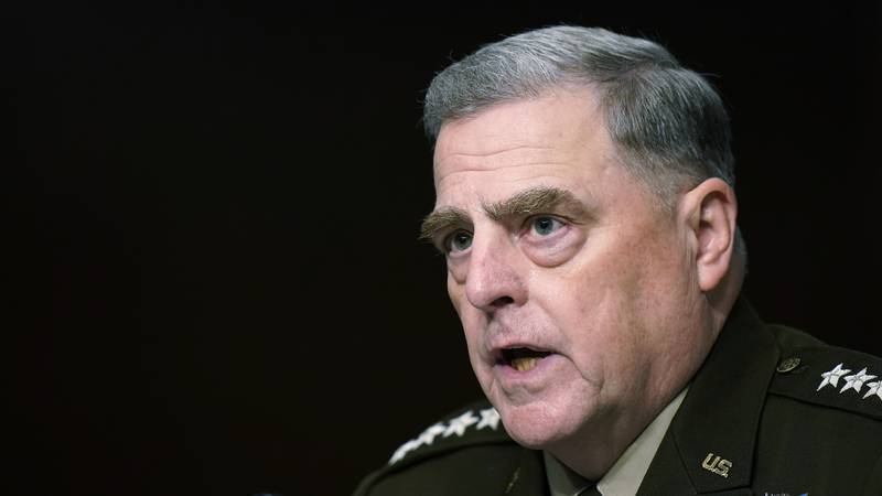 Chairman of the Joint Chiefs of Staff Gen. Mark Milley speaks during a Senate Armed Services...