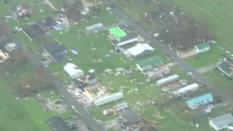 Here are aerial views of Hurricane Ida damage in Houma on Tuesday, August 31, 2021.