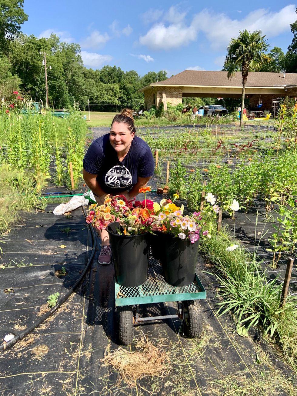 Rachel Duncan started growing flowers at her Boyce home last summer.