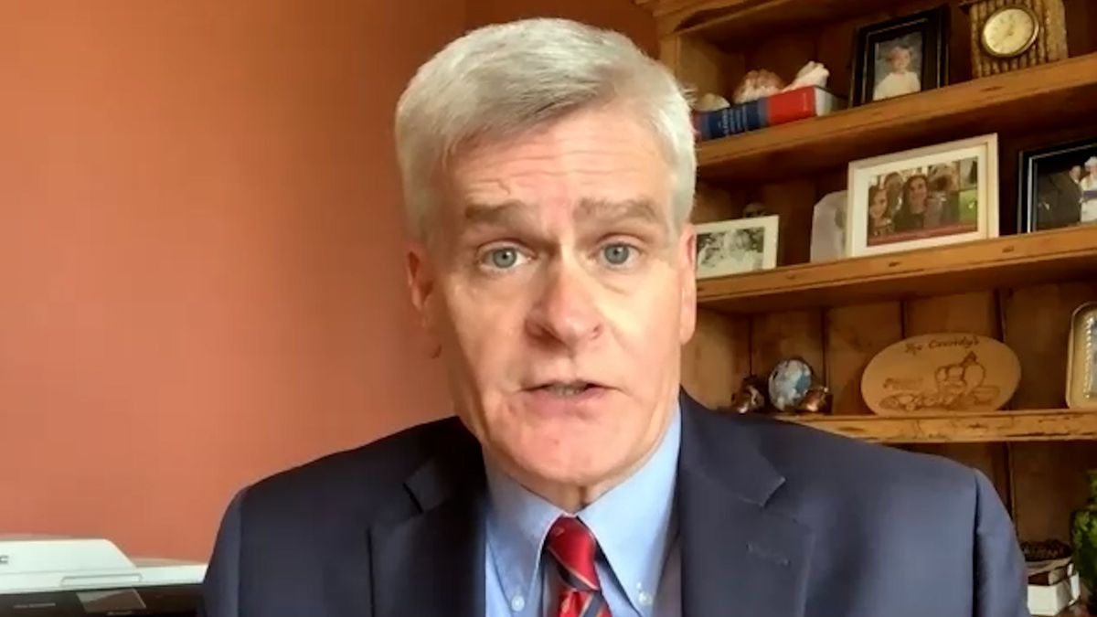 Sen. Bill Cassidy says Hurricane Delta's arrival, following Hurricane Laura and in the midst of...