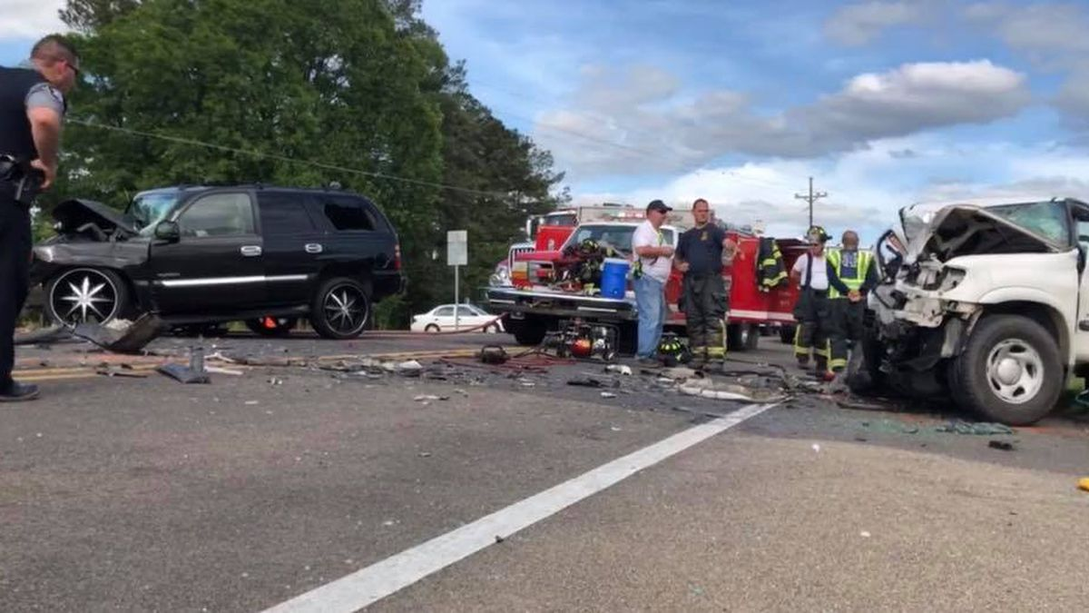A Mansura man died in this accident just outside of Marksville Monday. The accident happened on Highway 1 near Hwy. 1192 and shut down traffic for much of the afternoon. (Credit: KALB)
