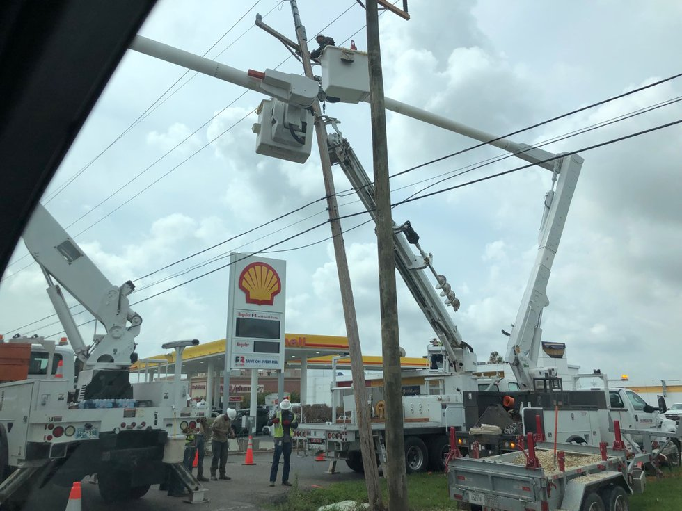 Hundreds of utility workers are now spread out across Lafourche Parish trying to bring power...
