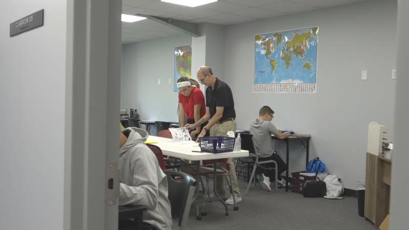 Hope Baptist School students returned to the classroom on Aug. 23, for the first time back on...