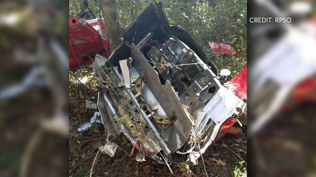 The Rapides Parish Sheriff's Office released this photo of the scene where a small plane...