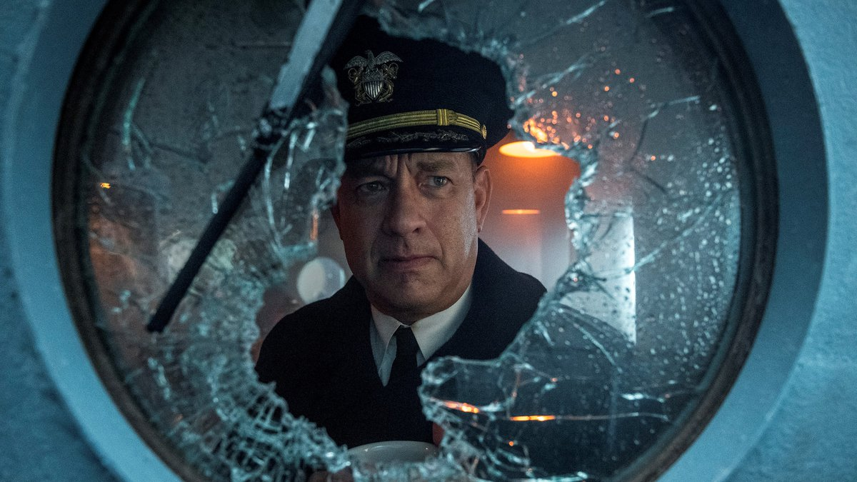 """This image released by Apple TV Plus shows Tom Hanks in a scene from """"Greyhound."""""""