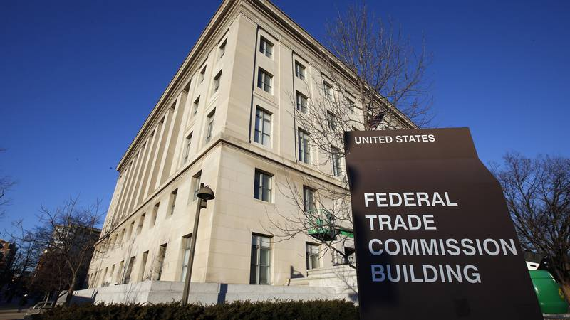 FILE - This Jan. 28, 2015, file photo, shows the Federal Trade Commission building in...