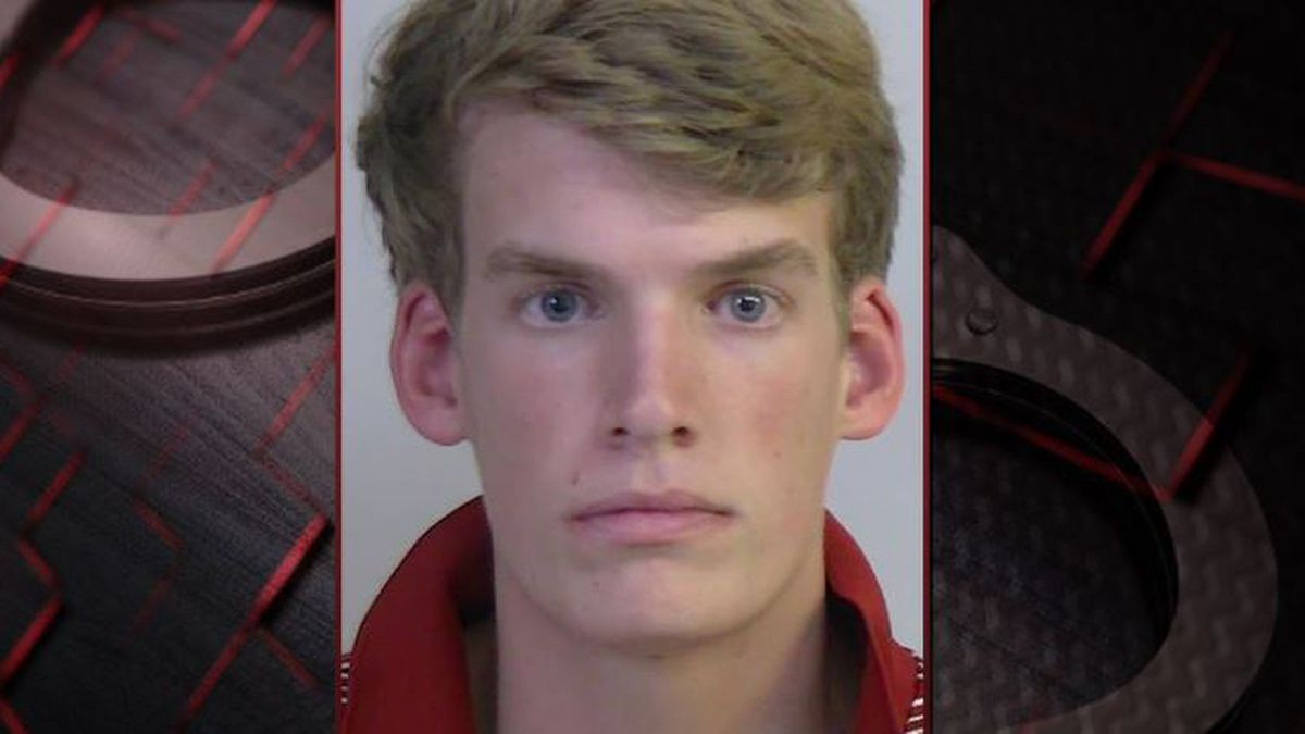 Connor Croll, 19, was arrested after he allegedly called and made a threat against Tiger Stadium during the game against the Gators. (Source: TCSO)