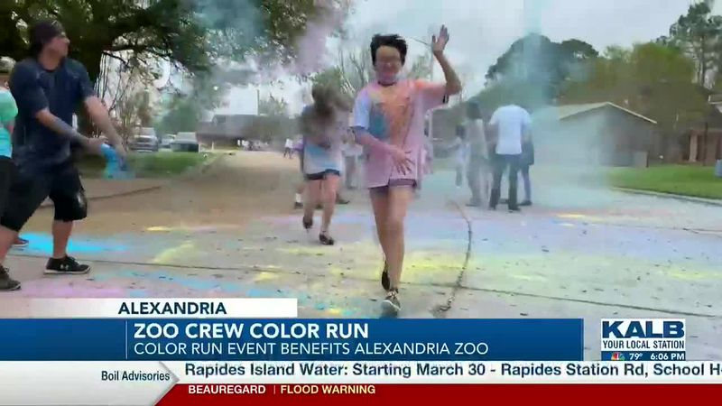 Grace Christian School hosts Zoo Crew Color Run to benefit Alexandria Zoo.