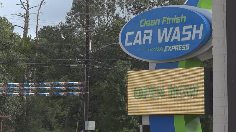 Clean Finish Car Wash hosted a grand opening that included a ribbon-cutting ceremony.