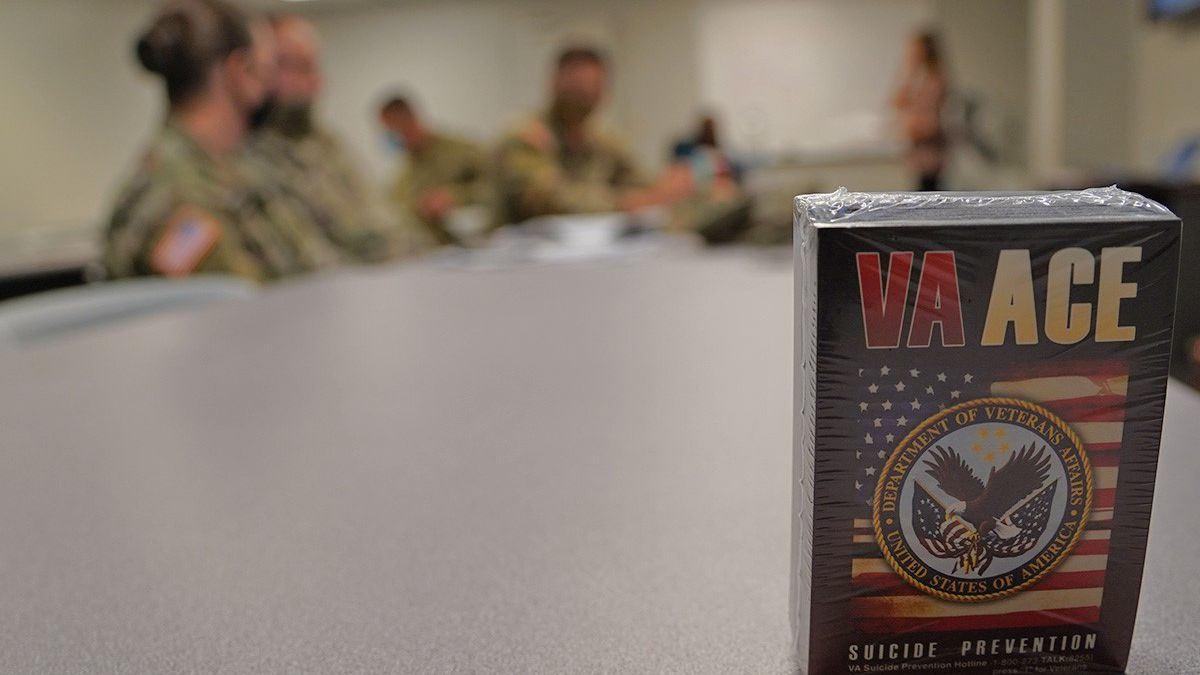 Louisiana National Guardsmen participate in a Suicide Intervention Officer course offered...