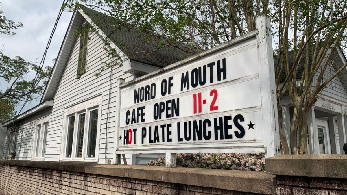 Word of Mouth Cafe reopened Wednesday for lunch, with outdoor and indoor seating available as well as a pickup window.