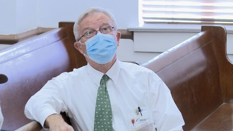 Dr. David Holcombe in Avoyelles Parish on July 1.