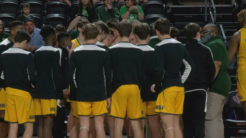 The Holy Savior Menard Eagles basketball team lost to the Newman Greenies, 54-45, in the...
