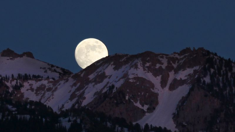 The cold moon rises four days after Christmas, hitting its peak at 10:28 p.m. ET on Tuesday.