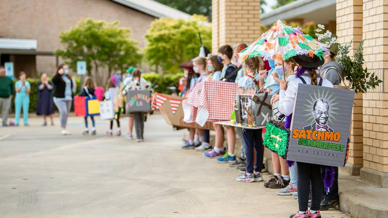Our Lady of Prompt Succor School held its annual 'Louisiana Day,' a celebration of the state's...