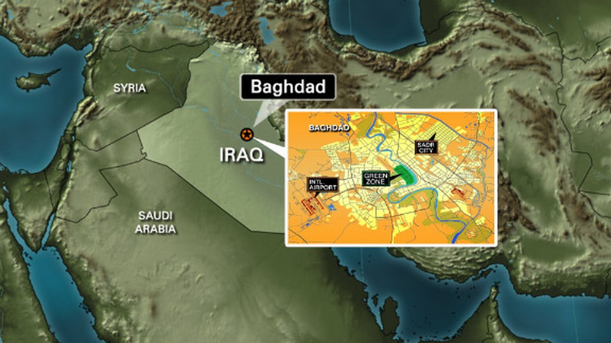 Two rockets land inside Baghdad's Green Zone   Source: CNN