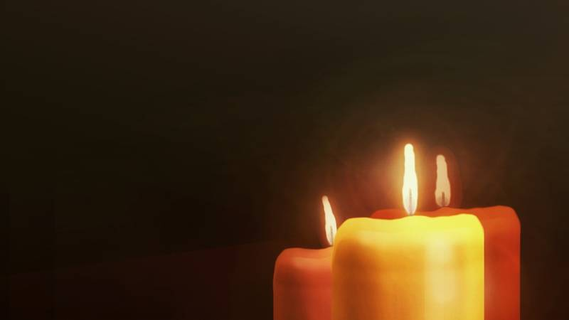 Candles in mourning.