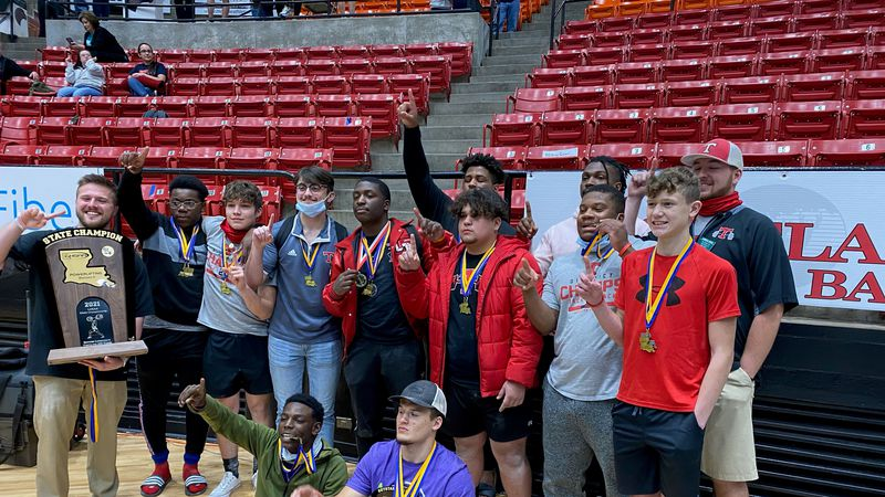 The Indians boys' powerlifting team added their fifth title to their collection.