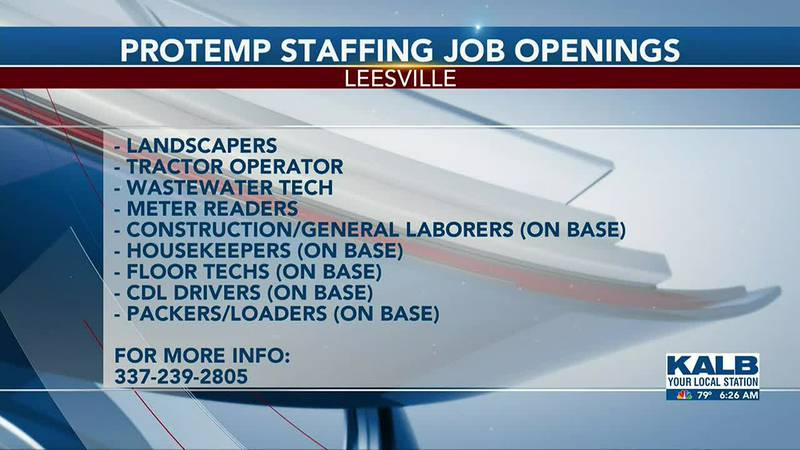 Protemp Staffing Job Opening 7-05-2021