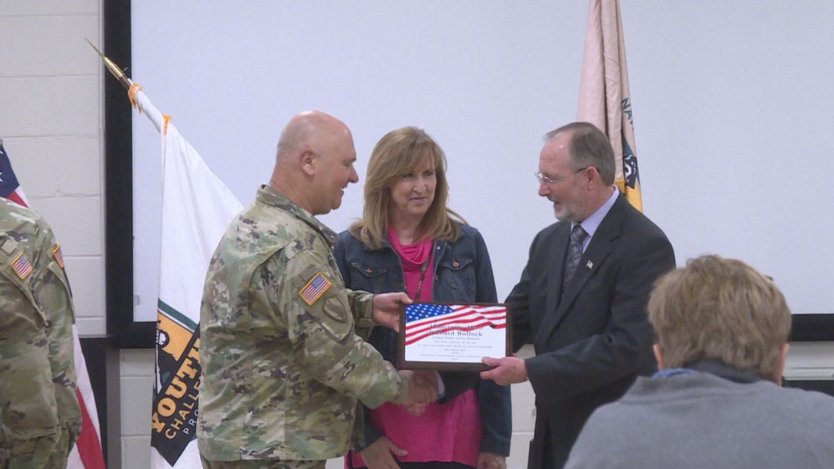 Master Sergeant (MSG) Richard Bullock, a former employee with National Guard's Youth Challenge Program (YCP) received high honors as he took home the Modern Woodmen of America Hometown Hero Award. | KALB