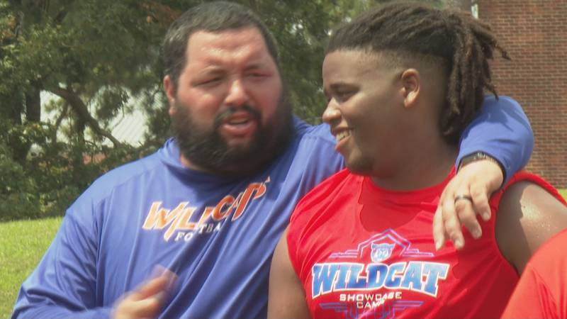 Local athletes attend Louisiana College skills camp.
