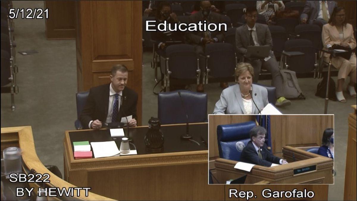 Sen. Sharon Hewitt presented her K-3 literacy bill along with Education State Superintendent...