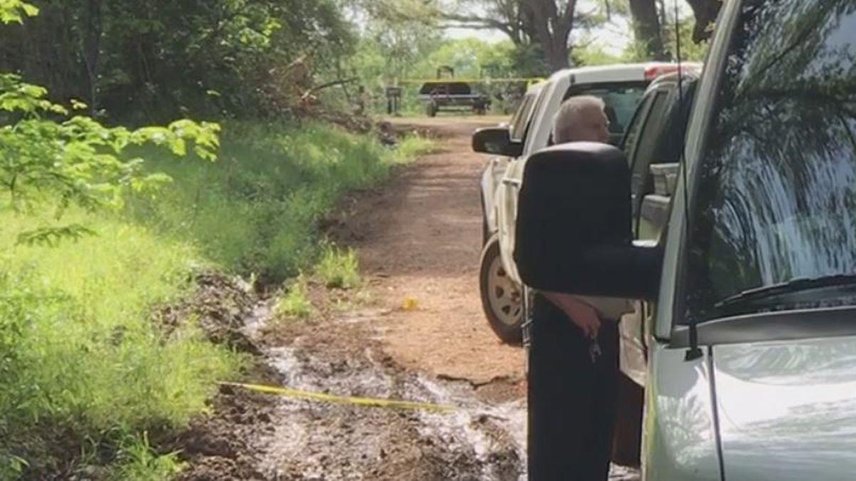 Scene of a deputy-involved shooting in Winn Parish.   Photo: KNOE