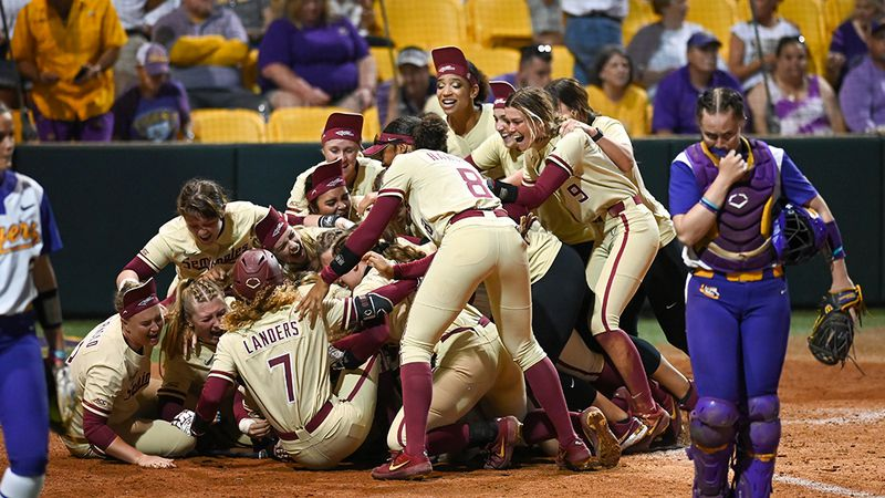 Florida State walks it off against LSU in the bottom of the ninth inning to advance to the WCWS.