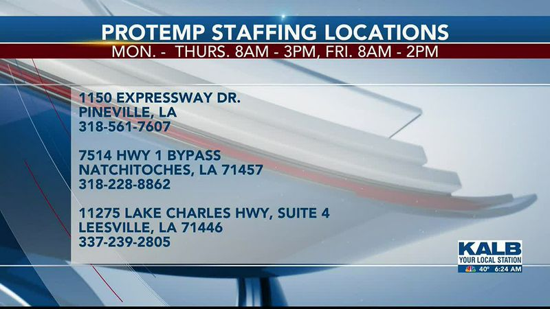 PROTEMP STAFF JOB OPENINGS 1/4/20
