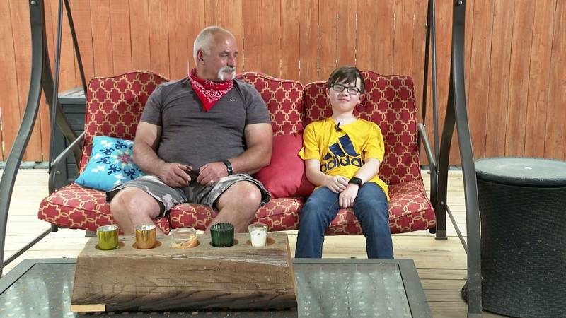 """Gregory """"P-Paw"""" Ray and his grandson Jackson Churchman."""
