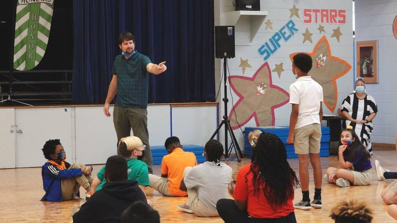 Fifth-grade students at Nachman Elementary are taking reading to the next level by learning to...