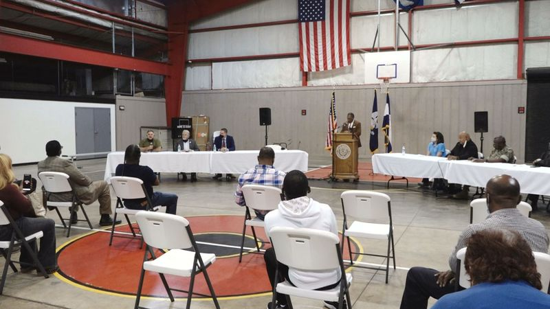 Local leaders came together to discuss recent crime issues in the City of Alexandria.