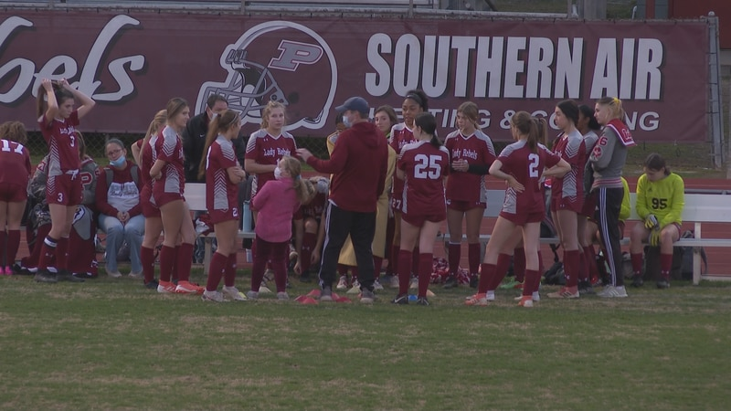 The Pineville Lady Rebels soccer team beat the Bolton Lady Bears, 8-0.