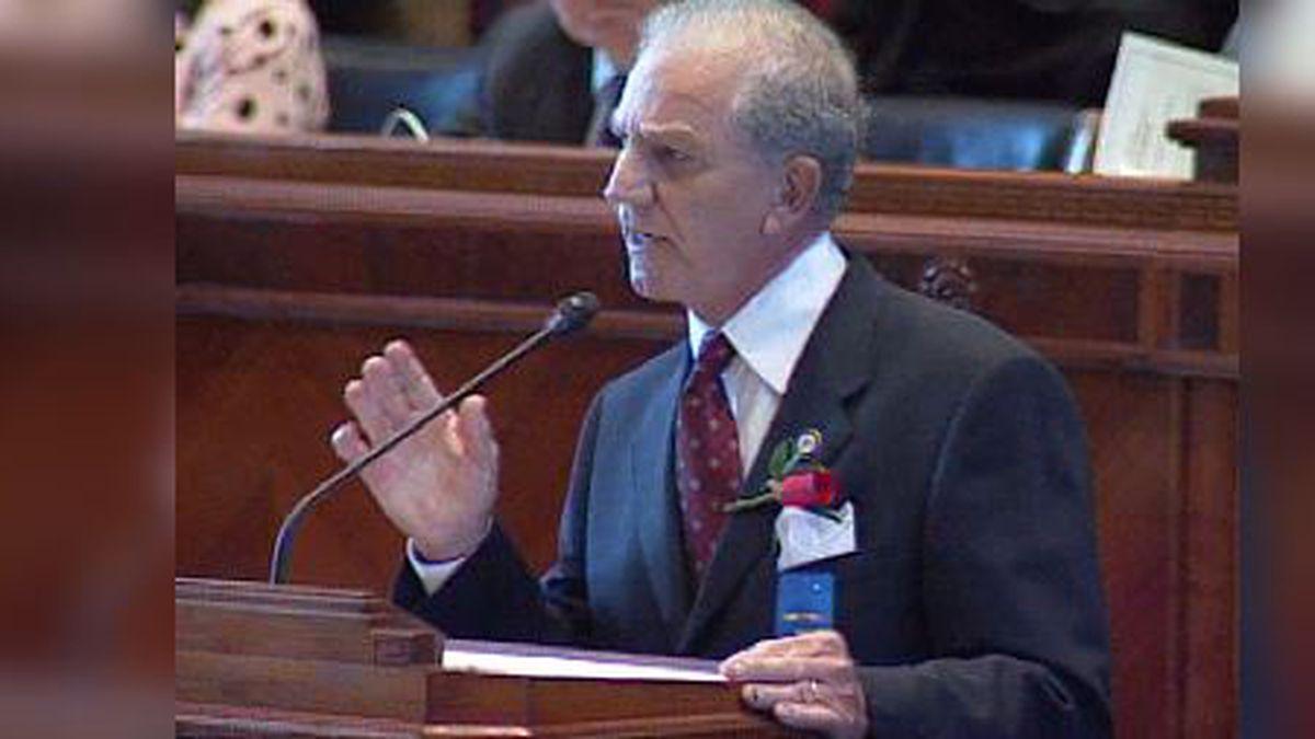 "Former Senate President ""Doc"" Hines at the legislature in 2004"